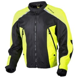 ASCENDANT Men's Black/Hi-Viz Mesh Sport Jacket by: ScorpionExo