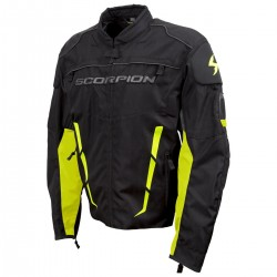 Scorpion Men's BATTALION Black/Neon Mesh Sport Bike Jacket