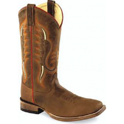OLD WEST -Mens Broad Square Toe Boot BSM1852