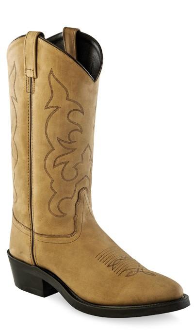 1b4bec812cb OLD WEST - Men's Light Apache Western Cowboy Work Boots TBM-3011