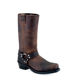 OLD WEST - Men's Brown Harness / Biker-Style Boots - MB-2060