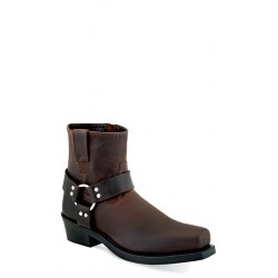 OLD WEST - Men's Brown Harness / Biker-Style Boots - MB-2059