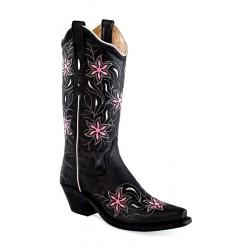 Old West LF1593 Black Crunch Ladies boots