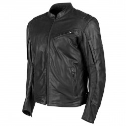 Joe Rocket Mens POWERGLIDE Leather Jacket Black