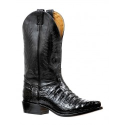 Boulet Mens Caiman Belly Chocolate Cutter toe boot 6555