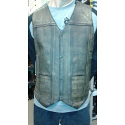 Marble Brown Leather Vest