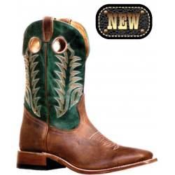 "Boulet's Challenger 11"" HillBilly Golden Mens Wide Square Toe Boot - 7750"