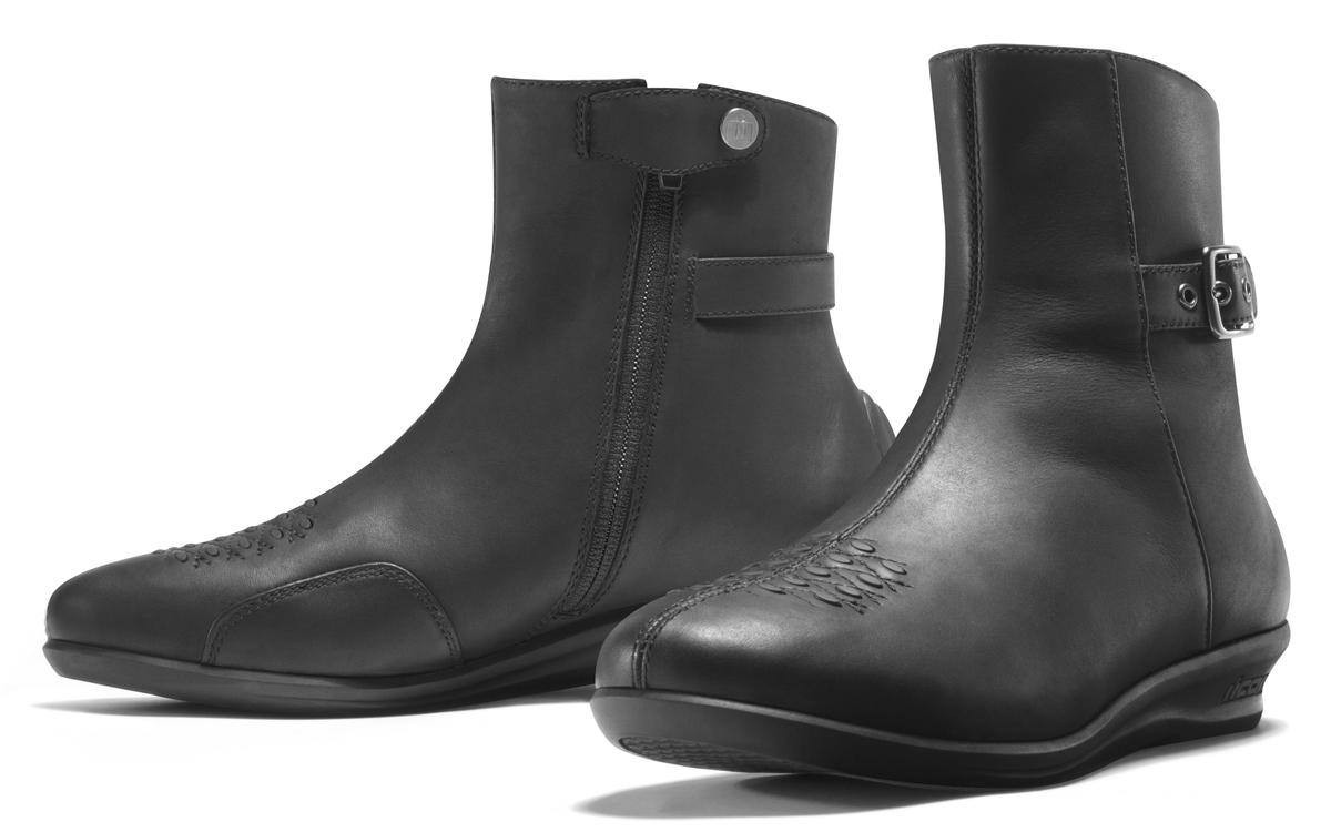 76cbc2757d2f Icon - Sacred Womens Low Boots Black - Leather King ...