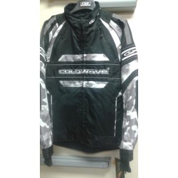 Cold wave Snow jacket black- white