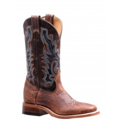 """Boulet 13"""" Ladies Double Stitch Bison Shrunken Bomber Damiana Moka Wide Square Toe Rider Sole Boot 7247"""