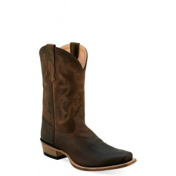 OLD WEST - Mens Brown Western Boots 5553