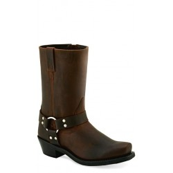 Old West MB2060L Ladies Brown Harness (RIDING) Boots