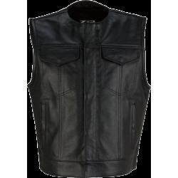 Ganja Mens Leather Vest