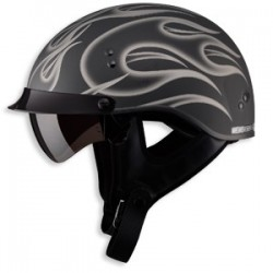 GM65 Half Helmet- Matte Silver Fully Dressed