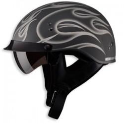 GM65 Half Helmet- Matte Silver Fully Dressed