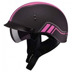 TWIN Matte Pink GM65 Half Helmet- Fully Dressed