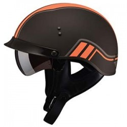 GM65 Half Helmet- Fully Dressed TWIN MATTE ORANGE