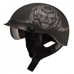 TATT MATTE BLACK GM65 Half Helmet- Fully Dressed