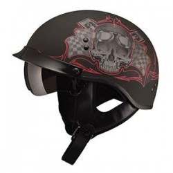 GOGGLE MATTE BLACK - GM65 Half Helmet- Fully Dressed