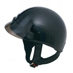 GM35 Half Helmet- Fully Dressed Black