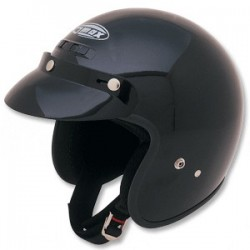 GM2 OPEN FACE HELMET BLACK