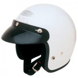White GM2 Open Face Helmet