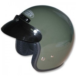 GREEN GM2 Open Face Helmet