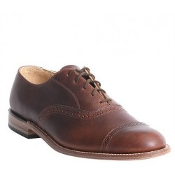 Men's WM. Moorby Footwear 2806 Pecan Tumbled Oxford