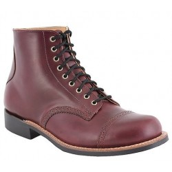 "Men's WM. Moorby footwear 2820 Black Cherry Chrome Excel 6"" quarters - Unlined - Vibram 430 Sole"