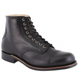 "Men's WM. Moorby footwear 2821Horween Black Chrome Excel 6"" quarters - Unlined - Vibram 430 Sole"