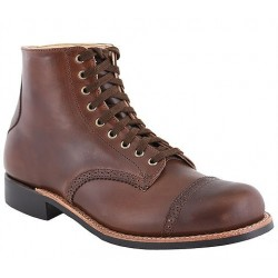 "WM Moorby Men's Horween Havana Brown Chrome Excel Leather Lined 6"" quarters 2823 - Vibram 430 Sole"