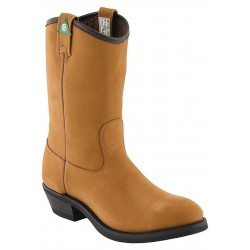 """Canada West 5292 12"""" Camel Goldrush-Lined Steel-Toe Work Western Boots CSA Grade 1"""