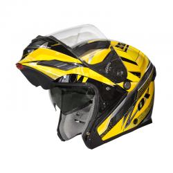 Modular / Flip up Helmet With drop down visor VOYAGER Yellow