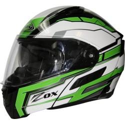 Modular / Flip up Helmet with drop down visor Delta Green Zox Condor