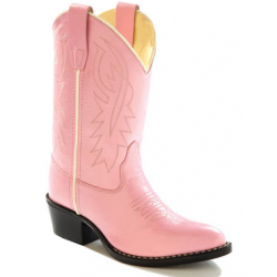 3231a4e7b39 Old West 8119CH Childrens Pink Western Pointy Toe Boots