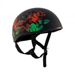 Retro Old School Helmet Roses No Peak