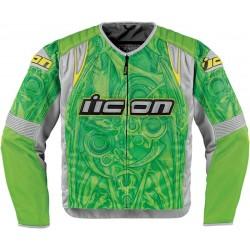 Icon Overlord Sportbike SB1 Mesh Motorcycle Jacket Green
