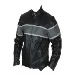 Premium Scooter Jacket Gray Stripe
