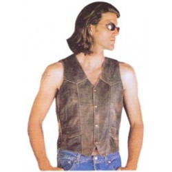 Men's Highway Hawk Leather Vest