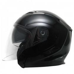 Zoan Long Jet Black Helmet