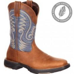 "Durango Men's DDB0108 Ultra-Lite 11""Tan/Denim Blue Saddle Western boot"