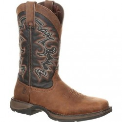 "Rebel by Durango Men's DDB0135 12"" Chocolate/Midnight Western boot with DSS"