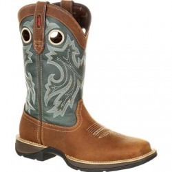 "Rebel by Durango Men's DDB0131 12"" SADDLEHORN AND CLOVER Western boot with DSS"