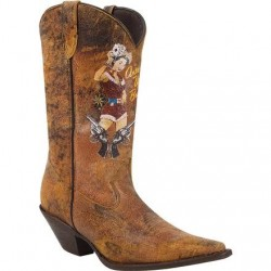 "Crush by Durango Women's RD012 12"" Pin Up Western Boot"