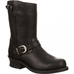 "Durango City Women's DCRD154 9"" SoHo Black Engineer Boot"
