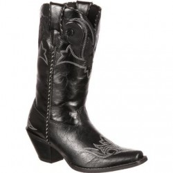 "Crush by Durango Women's RD5510 11"" Peek-A-Boot Western Boot - Black"