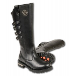 MBL9345 Milwaukee Leather Women's Tall Boots with Buckle Detail