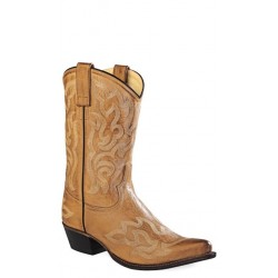 "Old West 18054 Ladies Tan Canyon 10"" Fashion Western Boots"