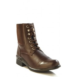 Old West Ladies Brown Lace Riding Boots RL9009L
