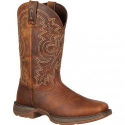 "Rebel by Durango Men's DB4443 11"" Brown Pull-on Western boot with DSS"
